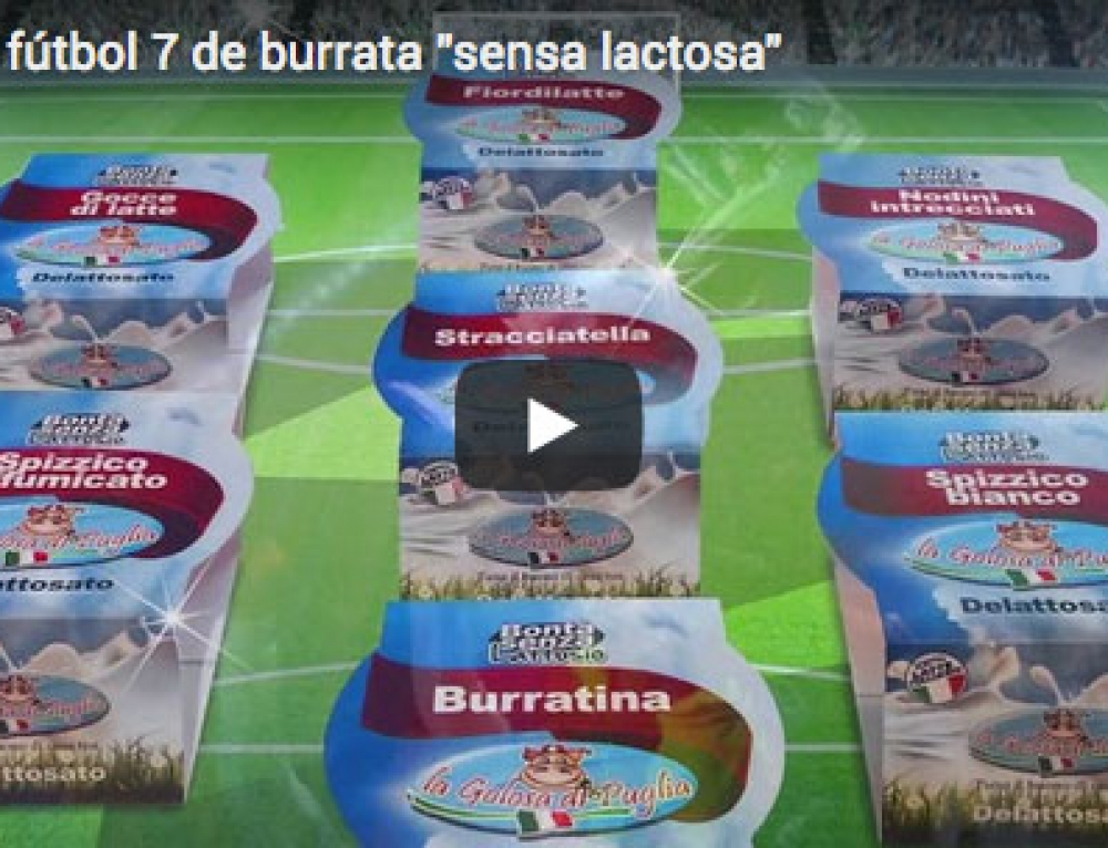 "The best soccer 7 of burrata ""sensa lactosa"""